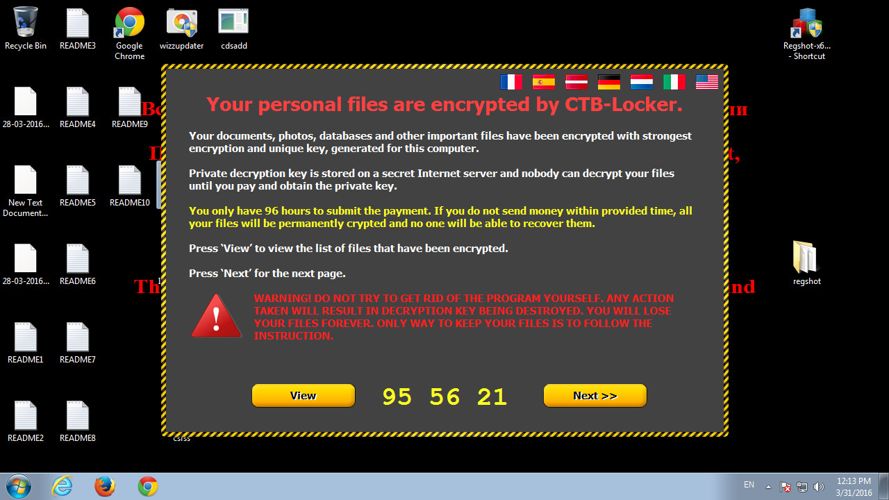ransomware timer