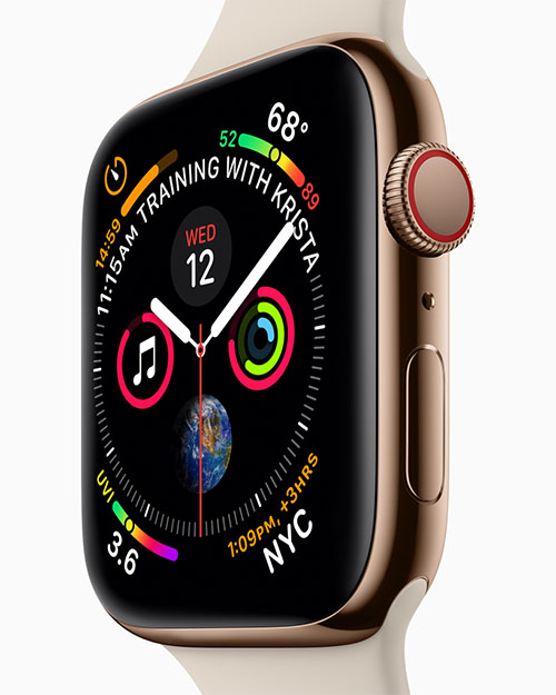 apple watch series4 watch front training